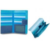 Bardzo duży skórzany portfel damski DuDu®, 534-1186 niebieski