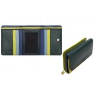 Skórzany mały portfel damski marki DuDu®, zielony