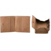 Skórzany mały portfel męski marki DuDu® Vintage, jasny brąz