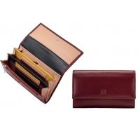 Skórzany portfel damski marki DuDu®, burgundowy