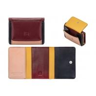 Skórzany mały portfel damski marki DuDu®, burgundowy