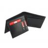 Męski skórzany zestaw prezentowy: dwustronny pasek + portfel Pierre Cardin, czarny