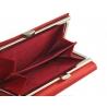 Damski skórzany zestaw prezentowy: pasek + portfel Pierre Cardin, czerwony