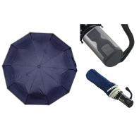 Automatyczna granatowa parasolka pełny automat z lamówką