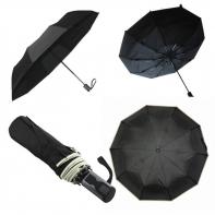 Automatyczna czarna parasolka pełny automat z lamówką