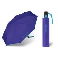 Automatyczna parasolka Benetton, chabrowa z lamówką