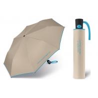 Automatyczna parasolka Benetton, beżowa z lamówką
