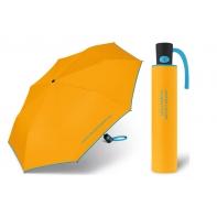 Automatyczna parasolka Benetton, żółta z lamówką