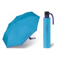 Automatyczna parasolka Benetton, niebieska z lamówką