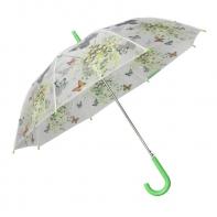 Automatyczna parasolka damska przezroczysta MOTYLE, zielona
