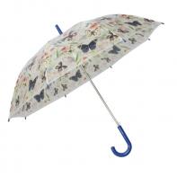 Automatyczna parasolka damska przezroczysta MOTYLE, granatowa