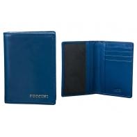 Etui na dokumenty LAKIEROWANE Puccini kolekcja Calypso, niebieskie