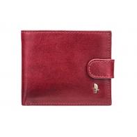 Klasyczny portfel męski Puccini z kolekcji Murano ZAPINANY, bordowy