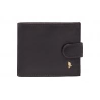 Elegancki portfel męski Puccini z kolekcji Murano ZAPINANY, brązowy