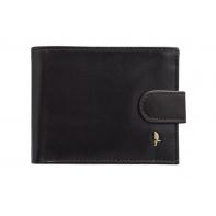 Męski poziomy portfel Puccini z kolekcji Murano ZAPINANY, brązowy