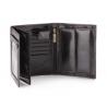Duży portfel Wittchen 21-1-139, RFID, kolekcja Italy, kolor czarny