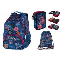 Zestaw szkolny BADGES BLUE, Coolpack