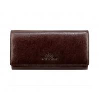 Długi skórzany portfel damski Wittchen, kolekcja Italy, brązowy