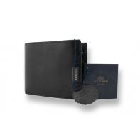 Portfel Wittchen 21-1-040, kolekcja Italy, kolor czarny