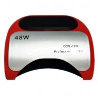 Lampa do paznokci UV LED CCFL 48W HYBRYDY - kolor CZERWONY