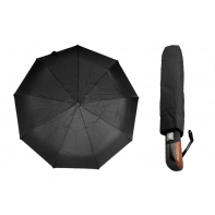 Automatyczna parasolka męska z elegancką rączką, czarna