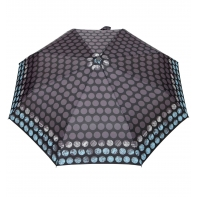 Automatyczna parasolka damska marki Parasol, czarna w grochy