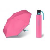 Automatyczna parasolka Benetton, różowa z lamówką