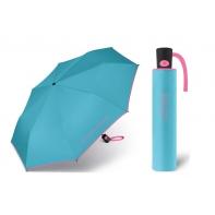 Automatyczna parasolka Benetton, błękitna z lamówką