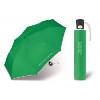 Automatyczna parasolka Benetton, zielona z białą lamówką