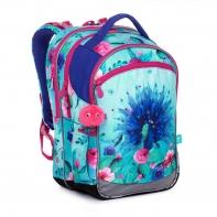 Plecak trzykomorowy dla dziewczynki Topgal COCO 20003 PAW