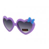 Okulary przeciwsłoneczne dziecięce UV 400 SERCA fioletowo-białe