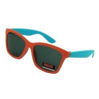 Okulary przeciwsłoneczne dziecięce UV 400, POMARAŃCZOWO-NIEBIESKIE