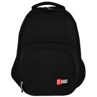 Dwukomorowy plecak szkolny St.Right 26 L, CZARNY BP23