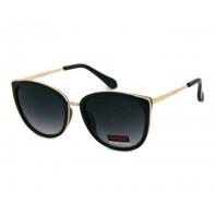 Okulary przeciwsłoneczne damskie UV 400 CIENIOWANE, CZARNY + ZŁOTY