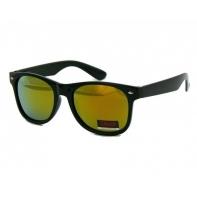 Okulary przeciwsłoneczne męskie UV 400 NERDY CZARNE + ŻÓŁTA lustrzanka