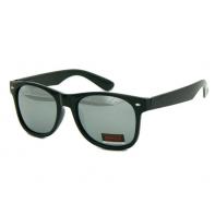 Okulary przeciwsłoneczne męskie UV 400, NERDY CZARNE + SREBRNY