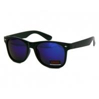 Okulary przeciwsłoneczne męskie UV 400, NERDY CZARNE + GRANATOWY