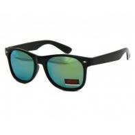 Okulary przeciwsłoneczne męskie UV 400, NERDY CZARNE + ZIELONY