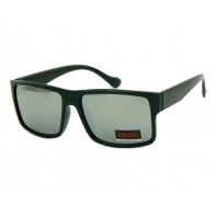 Okulary przeciwsłoneczne męskie UV 400, CZARNE + SREBRNE
