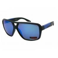 Okulary przeciwsłoneczne męskie UV 400, CZARNO-NIEBIESKIE