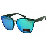 Okulary przeciwsłoneczne damskie POLARYZACJA UV, czarno-niebieskie