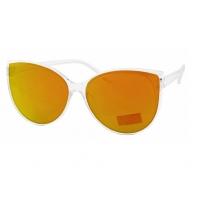Okulary przeciwsłoneczne damskie UV, PRZEZROCZYSTE + pomarańczowy