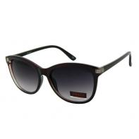 Okulary przeciwsłoneczne damskie UV, CIENIOWANE bordowo-czarne