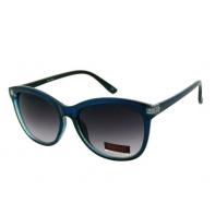 Okulary przeciwsłoneczne damskie UV, CIENIOWANE niebiesko-czarne