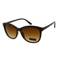 Okulary przeciwsłoneczne damskie UV, CIENIOWANE brązowa panterka