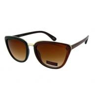 Okulary przeciwsłoneczne damskie UV, CIENIOWANE brązowe BŁYSZCZĄCE