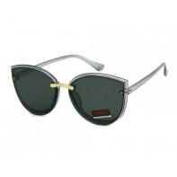 Okulary przeciwsłoneczne damskie UV 400, SZARO-CZARNE