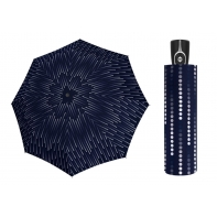 Mocna damska automatyczna parasolka Doppler UV SPF 50, granatowa