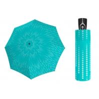 Mocna damska automatyczna parasolka Doppler UV SPF 50, turkusowa