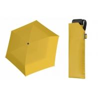 Bardzo lekka wytrzymała płaska parasolka Doppler, ŻÓŁTA